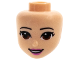 Part No: 37291  Name: Mini Doll, Head Friends with Brown Eyes, Dark Pink Lips and Open Mouth Pattern
