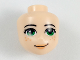 Part No: 37292  Name: Mini Doll, Head Friends with Green Eyes, Peach Lips and Freckles Pattern
