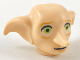 Part No: 37701pb01  Name: Minifigure, Head Modified Dobby Type 2 with Lime Green Eyes Detailed and Black Mouth Pattern