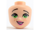 Part No: 38598  Name: Mini Doll, Head Friends with Green Eyes, Freckles, Dark Pink Lips and Open Mouth Pattern