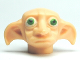 Part No: 43745pb01  Name: Minifigure, Head Modified Dobby Type 1 with Green Eyes Pattern