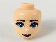Part No: 48252  Name: Mini Doll, Head Friends with Dark Azure Eyes, Dark Purple Lips Pattern