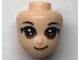 Part No: 60851  Name: Mini Doll, Head Friends with Brown Asian Large Eyes, Peach Lips and Closed Mouth Pattern (Ping)