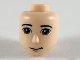Part No: 61066  Name: Mini Doll, Head Friends Male with Reddish Brown Eyes, Closed Grin Pattern