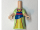 Part No: 61238  Name: Micro Doll, Body with Bright Light Green Dress Pattern (Mulan)