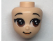 Part No: 61279  Name: Mini Doll, Head Friends with Brown Asian Large Eyes, Raised Eyebrows, Peach Lips and Closed Mouth Pattern (Mulan)
