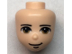 Part No: 66454  Name: Mini Doll, Head Friends Male with Light Brown Eyes, Closed Grin Pattern