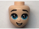 Part No: 66573  Name: Mini Doll, Head Friends with Blue Large Eyes, Raised Eyebrows, and Open Mouth Pattern