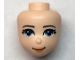 Part No: 66631  Name: Mini Doll, Head Friends with Bright Light Blue Eyes, Medium Nougat Lips and Closed Mouth Pattern