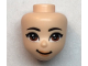 Part No: 67603  Name: Mini Doll, Head Friends with Brown Asian Eyes, Medium Flesh Lips and Closed Mouth Pattern