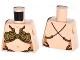 Part No: 973pb1486  Name: Torso SW Princess Leia Slave, Bra Straps on Back Pattern