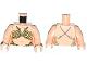 Part No: 973pb1486c01  Name: Torso SW Princess Leia Slave, Bra Straps on Back Pattern / Light Nougat Arms / Light Nougat Hands