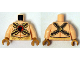 Part No: 973pb1888c01  Name: Torso Muscles Outline with Gold Belts and Red Buckle with Black Hawk Pattern / Light Flesh Arms / Pearl Gold Hands