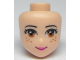 Part No: 98705  Name: Mini Doll, Head Friends with Medium Dark Flesh Eyes and Freckles, Dark Pink Lips and Closed Mouth Pattern