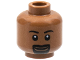 Part No: 3626bpx276  Name: Minifigure, Head Male Eyebrows, White Pupils, Goatee and Grin Pattern - Blocked Open Stud