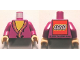 Part No: 973pb1261c01  Name: Torso Harry Potter Dumbledore Pattern - LEGO Logo on Back / Light Purple Arms / Light Nougat Hands