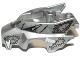 Part No: 11113pb02  Name: Flywheel Fairing Wolf Shape with Fangs and Black, Silver and White Pattern