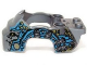 Part No: 11122pb01  Name: Flywheel Fairing Gorilla Shape with Dark Azure and Silver Markings and Leaves Pattern (70109)