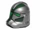 Part No: 11217pb06  Name: Minifigure, Headgear Helmet SW Clone Trooper with Dark Green Pattern (Commander Gree)