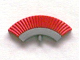 Part No: 12886pb01  Name: Minifigure, Headgear Accessory Crest with Red Plumes Pattern
