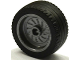 Part No: 18976c01  Name: Wheel 18mm D. x 12mm with Axle Hole and Stud with Black Tire 24 x 12 Low (18976 / 18977)