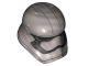 Part No: 20904pb03  Name: Minifigure, Headgear Helmet SW Stormtrooper Ep. 8 Captain Phasma Pointed Mouth Pattern