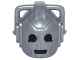 Part No: 21970pb01  Name: Minifigure, Head Modified Robot with 2 Handles with Black Eyes and Mouth Pattern (Cyberman)