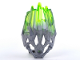 Part No: 24166pb04  Name: Bionicle Crystal Armor with Marbled Trans-Bright Green Pattern