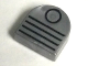 Part No: 24246pb001  Name: Tile, Round 1 x 1 Half Circle Extended (Stadium) with Black Circle and 4 Lines Vent Pattern