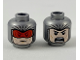 Part No: 3626cpb2344  Name: Minifigure, Head Dual Sided Balaclava with Light Nougat Face, Red Goggles / Angry with Open Mouth Pattern - Hollow Stud