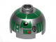 Part No: 553pb014  Name: Brick, Round 2 x 2 Dome Top with Green Pattern (R3-D5)