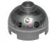 Part No: 553pb031  Name: Brick, Round 2 x 2 Dome Top with Pink Dots and Silver Pattern (R2-BHD)