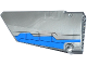 Part No: 64392pb008  Name: Technic, Panel Fairing #17 Large Smooth, Side A with Blue Airplane Flaps Pattern (Sticker) - Set 76021