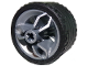 Part No: 66155c01  Name: Wheel 30.4mm D. x 20mm with Center Axle Holes Motorcycle and Black Tire 37 x 22 ZR (66155 / 55978)