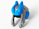 Part No: 68034pb01  Name: Minifigure, Hair Swept Back with Two Side Locks, Dark Azure Horns and Pointed Ears Pattern