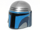 Part No: 87610pb04  Name: Minifigure, Headgear Helmet with Holes, SW Mandalorian with Blue and Dark Blue Pattern