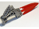 Part No: 87806pb02  Name: Hero Factory Weapon - Fire Shooter with Flexible Red Blade Pattern