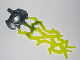 Part No: 87812pb01  Name: Hero Factory Weapon - Triple Lightning with Marbled Trans-Neon Green Bolt Pattern