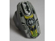 Part No: 90639pb022  Name: Hero Factory Armor with Ball Joint Socket - Size 5 with Lime Arrows, Black and Yellow Chevrons, and Hero Factory Logo Pattern