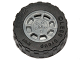 Part No: 93593c02  Name: Wheel 11mm D. x 6mm with 8 Spokes with Black Tire 17.5mm D. x 6mm with Shallow Staggered Treads - Band Around Center of Tread  (93593 / 92409)