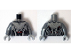 Part No: 973pb1948c01  Name: Torso Silver Armor with Red Spots Pattern (Ultimate Ultron) / Flat Silver Arms / Light Bluish Gray Hands