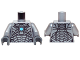 Part No: 973pb2213c01  Name: Torso Armor with Black and Silver Panels and Medium Blue Circle Pattern / Flat Silver Arms / Dark Bluish Gray Hands