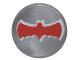 Part No: 98138pb040  Name: Tile, Round 1 x 1 with Red Bat Batman Logo Pattern (76052)