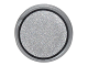 Part No: 98138pb041  Name: Tile, Round 1 x 1 with Silver Circle with Black Border Pattern