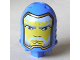 Part No: bb0153pb06b  Name: Large Figure Head with King Mathias Pattern - Gold Line around Face