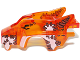 Part No: 11113pb04  Name: Flywheel Fairing Wolf Shape with White Patches and Brown Stitches Pattern (70111)