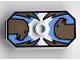 Part No: 48494pb03  Name: Minifigure, Shield Rectangular with Stud, Knights Kingdom Jayko Hawk Pattern (Printed Version)