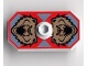 Part No: 48494pb04  Name: Minifigure, Shield Rectangular with Stud, Knights Kingdom Santis Bear Pattern (Printed Version)