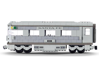 BrickLink - Set 10022-1 : Lego Santa Fe Cars - Set II (dining, observation,  or sleeping car) [Train:9V:My Own Creation] - BrickLink Reference Catalog
