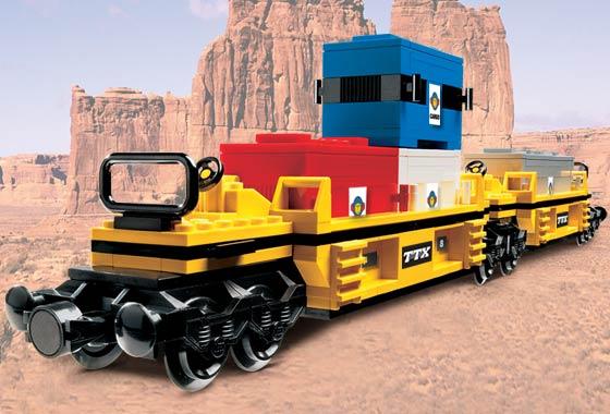 Blue Intermodal Doublestack Car PLEASE READ DESCRIPTION